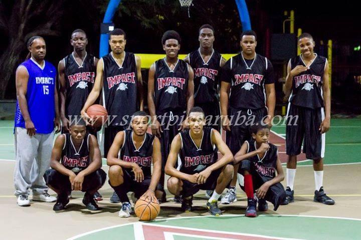Gli Impact, una delle squadre partecipanti al campionato di Aruba
