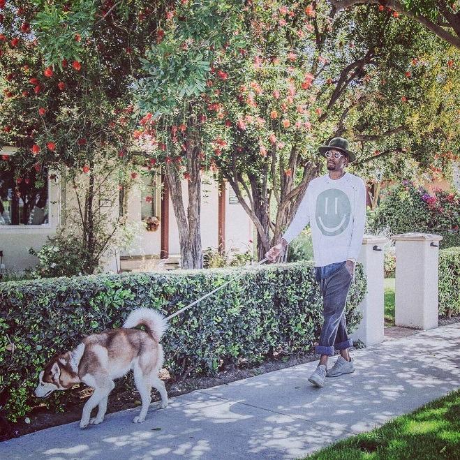 Ora Larry ha un nuovo cane e lo porta in giro vestito così. Speriamo che almeno lo tratti meglio dei precedenti.