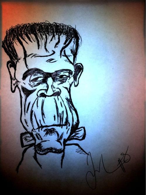 Questo schizzo, dal suo defunto account Tumblr, è l'unico reperto dell'arte di Larry Sanders. Come dite? Il vostro illustratore con trentamila lire la fa meglio?