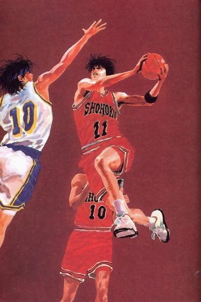 Il dinamismo e l'intensità sono alle stelle nel tratto di Inoue, modellato su autentiche foto NBA